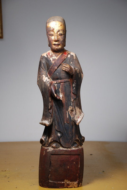 Statue of a Buddhist Holy Man, China, 18th C.
