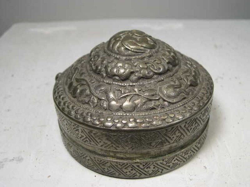 Lime Box 2, Tibet, 18th C.