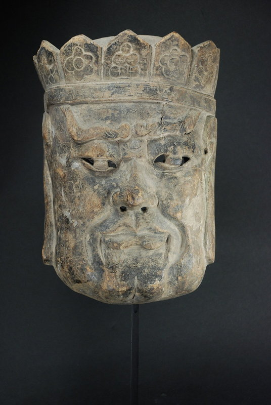 "Rare ""Nuo"" Theater Mask of Buddha, China, Early 19th C."
