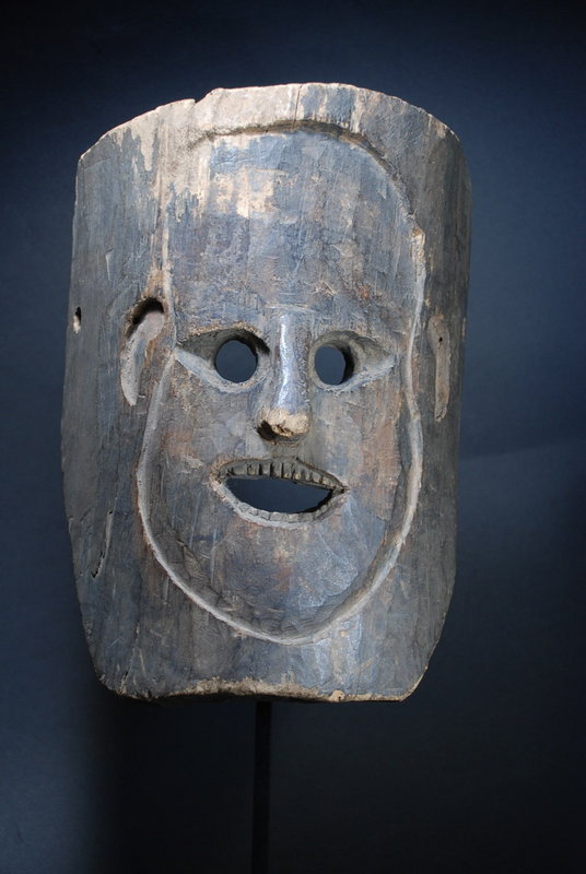 Rare & Unusual Himalayan Mask, Early 20th C.