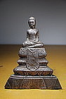 Silver Statue of Buddha, Burma, 19th C.