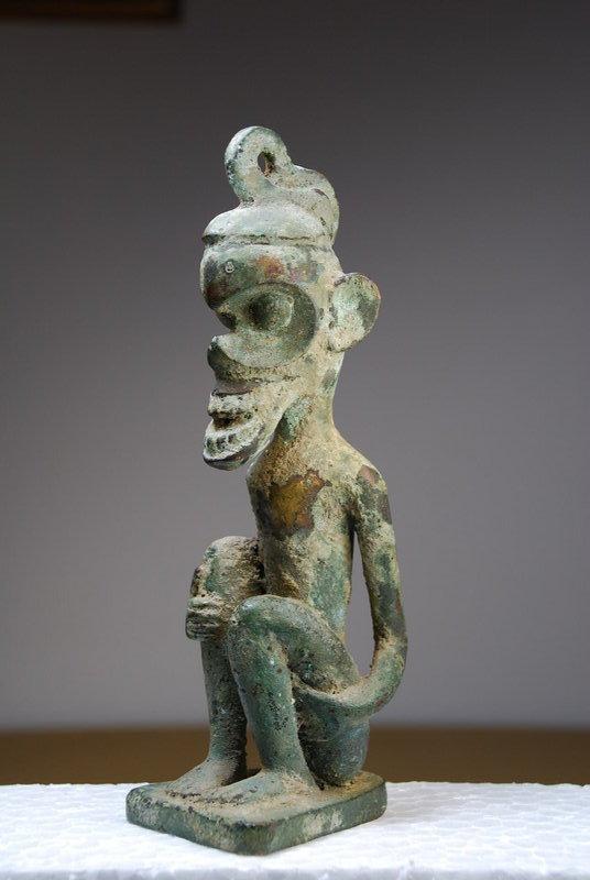 Rare Bronze Statue, Borneo Island, Dayak Peoples