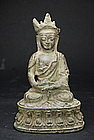 Statue of Crowned Buddha, Tibet, 16th C.