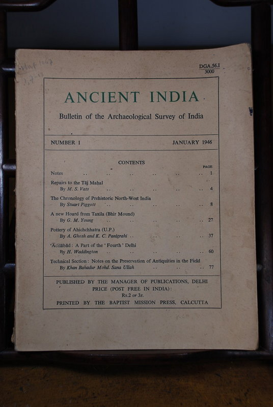 Ancient India Bulletin, No 1, Jan. 1946