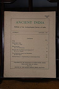 Ancient India Bulletin, No 3, January 1947