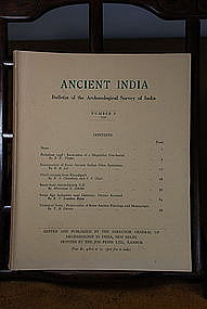 Ancient India Bulletin, No 8, Year 1952