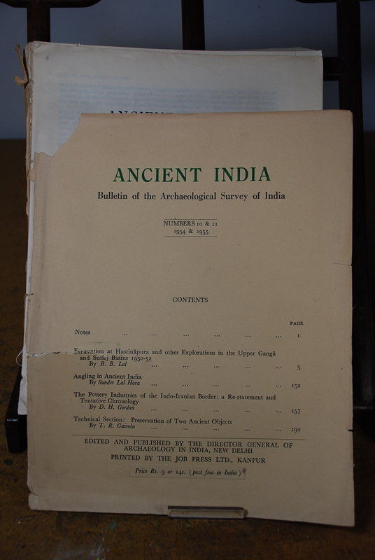Ancient India Bulletin, No 10 & 11, Years 1954 & 1955