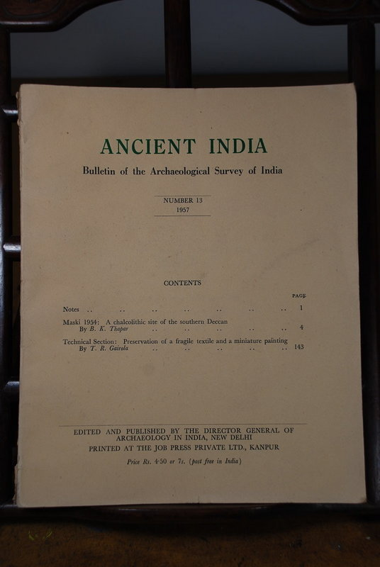 Ancient India Bulletin, No 13, Year 1957