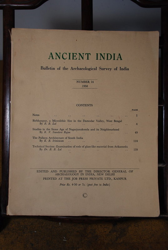 Ancient India Bulletin, No 14, Year 1958
