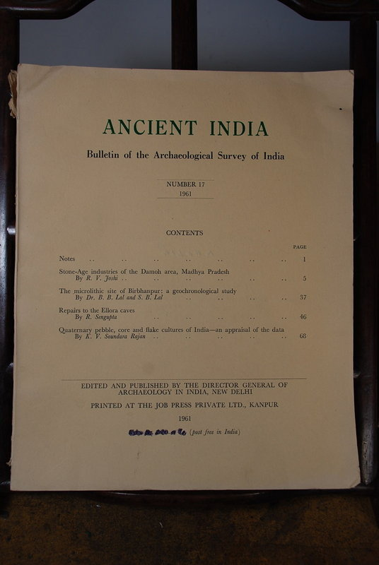 Ancient India Bulletin, No 17, Year 1961