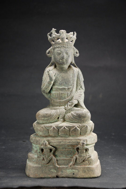 Unusual Statue of Vairocana, China, Early Ming Dynasty