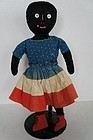 The nicest little patriotic black doll calico dress