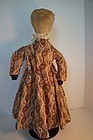 Pencil face cloth doll  layers of clothes 19th C