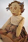 Early cloth doll with plenty of character.
