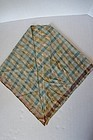 Shaker sister's kneckerchief in blue, brown 19th C.