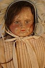 Painted face antique cloth doll beautiful face