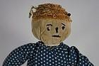 Sweet little pumpkin head antique cloth doll