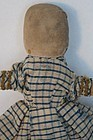 Small antique cloth doll with  pencil face