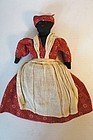 Antique topsy turvy cloth doll all hand sewn,  calico dresses 1890