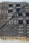Antique indigo blue and white overshot coverlet 1830-40