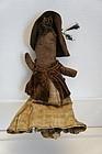 The dearest little stump doll black woman great clothes antique