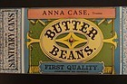 Antique Shaker Butter Bean can paper label Anna Case