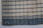 Blue and white antique homespun handkerchief ex cond. 1830