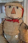 Early 1900's folky Raggedy Andy the best doll!