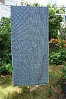 """Large blue and white fabric piece from a quilt back 62"""" by 28"""""""