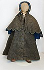 """23"""" great antique cloth doll from Maine with original clothes"""