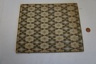 "Needle work Bargello 8 1/2"" by 10"" good dollhouse rug C. 1830"