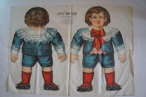 "Large doll pattern Little Boy Blue uncut 29""x21"" suitable for framing"