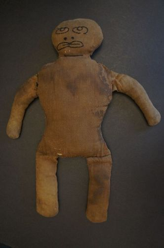 Black doll toy with great face C. 1900
