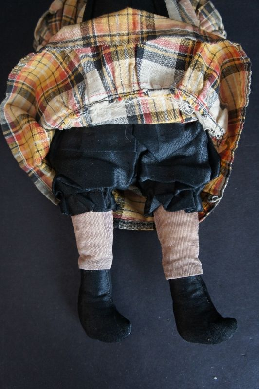 """Tooty is 11"""" tall with an embroidered face and sewn on clothes C.1930"""