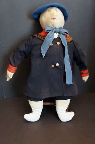 "21"" boy doll with the best clothes, embroidered face nice hands"