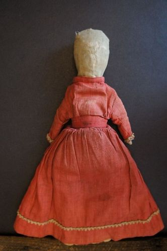 "11"" linen doll all hand sewn and has a corncob body 1870"