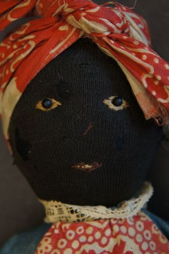 Antique black broom doll really nice face