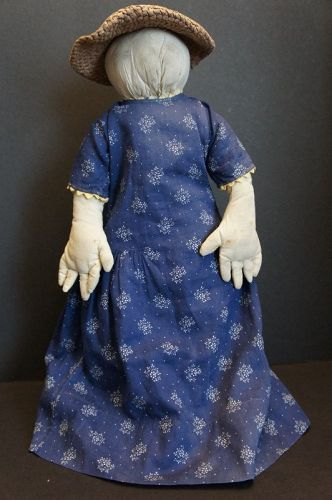 Folk art doll  willing to give a helping hand, a big one 17""