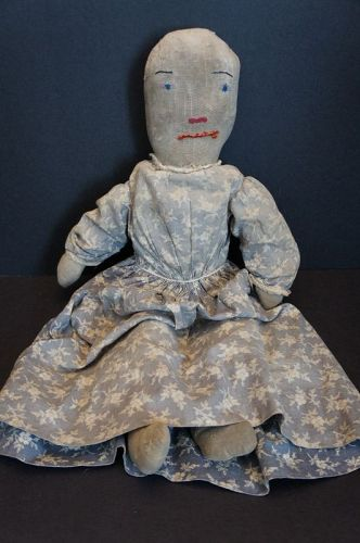 "Funny little doll, her name is Alice, 18"" tall and circa 1900-1910"