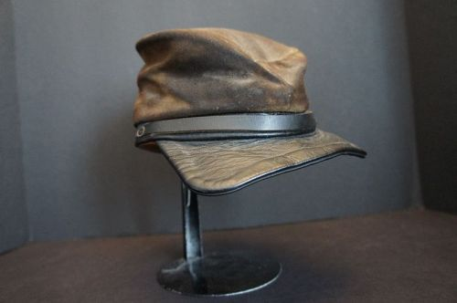 Early, old leather Kepi from the 1880's Civil War type