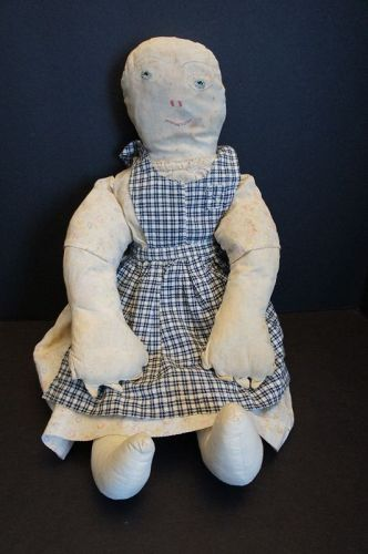 Big, heavy, rag stuffed outrageous cloth doll