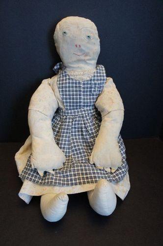 Big, heavy, rag stuffed outrageous cloth doll