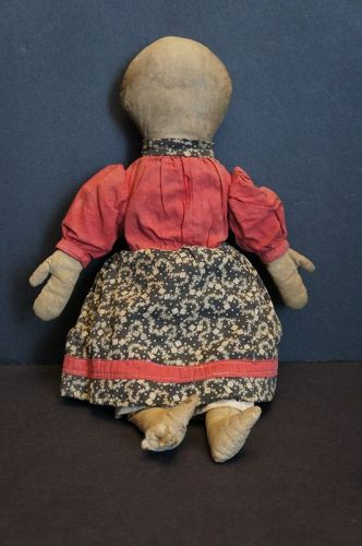 "Wonderful 13"" rag doll hand sewn with big folky mitten hands"