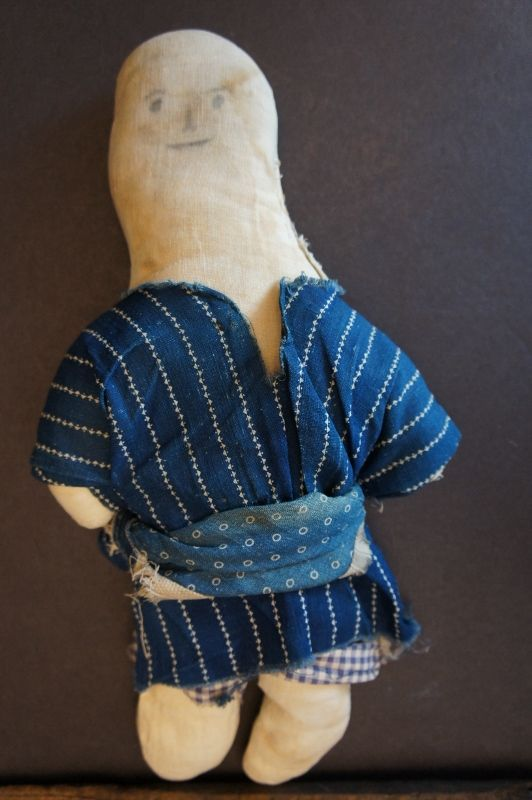"""An unassuming little pencil face cloth doll 11"""""""