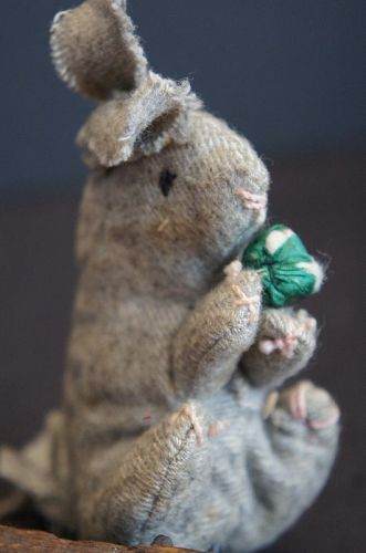 A little hand sewn wool rabbit from Pennsylvania 1890