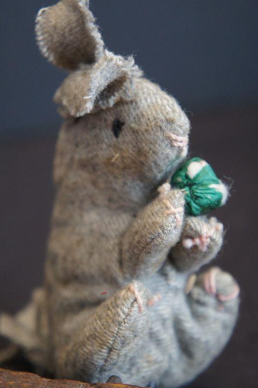 A little hand sewn wool rabbit from Pennsylvania 1890