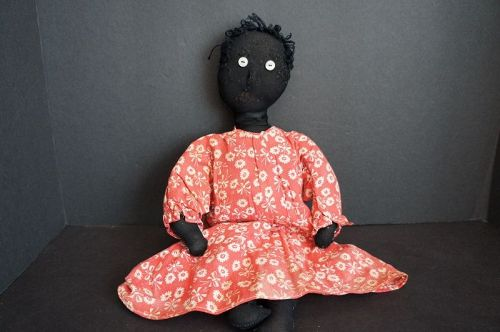 Whimsical little black doll from an estate in Tennessee