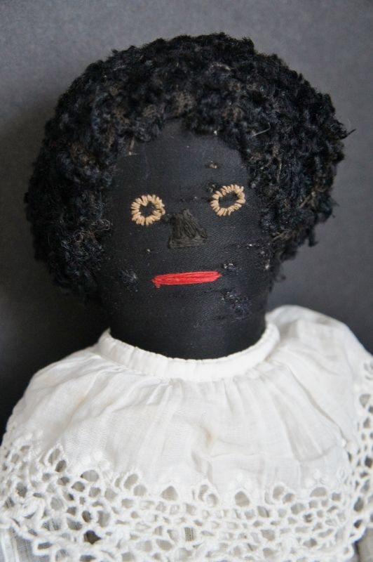 """Antique black sister dolls looking precious in matching dresses 15"""""""