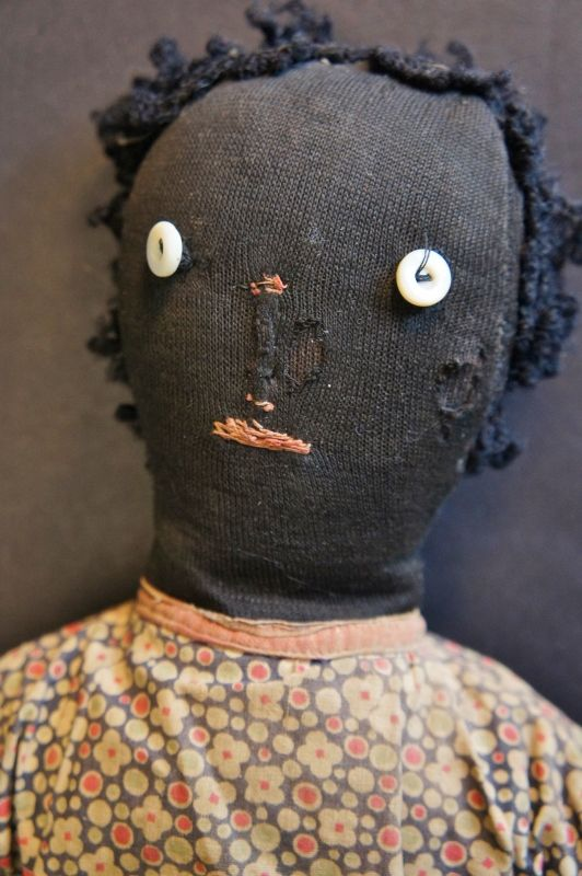 """16"""" button eyed doll, pinched nose, east west feet 1900"""