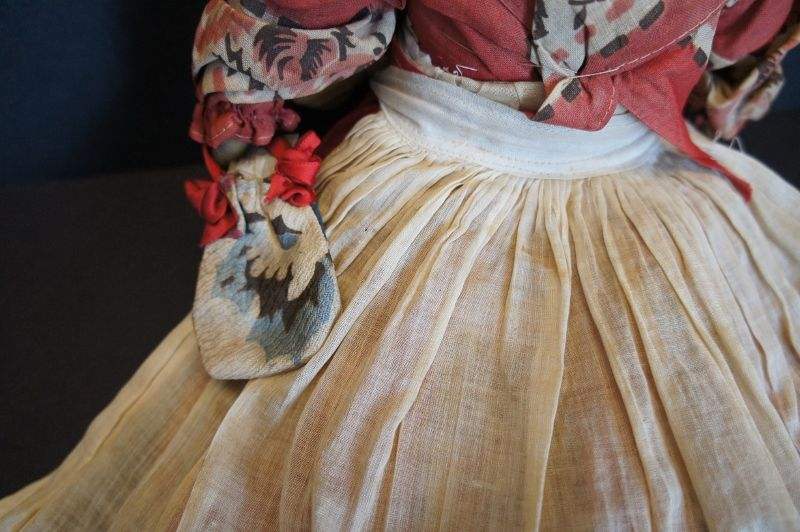 All original black doll with great bandana clothes 1910-20